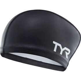TYR Silicone Comfort Cuffia da nuoto per capelli lunghi, black